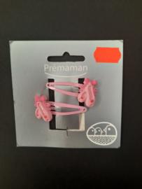 Haarclipjes roze ballerina's