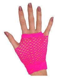 Handschoenen kort, roze
