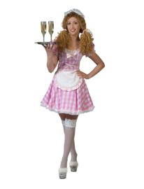 Roze serveerster