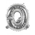 Zilveren Letter Folie ballon Q