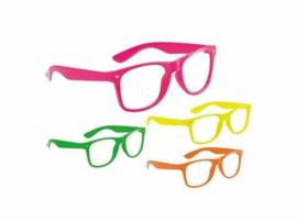 Party bril zonder glazen diverse kleuren