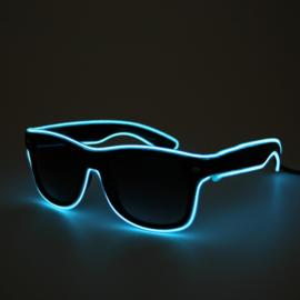 LED brillen in het blauw, geel, groen, rood, roze of wit
