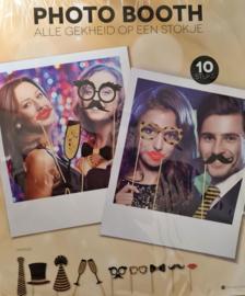 Photobooth props Oud en Nieuw/ bruiloft in het zwart en goud