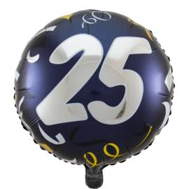 Folieballon jubileum 25