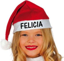 Kerstmuts kind met naam