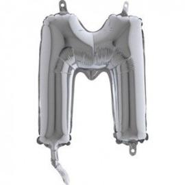 Zilveren Letter Folie ballon M