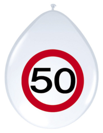 Verkeersbord ballonnen 50 jaar