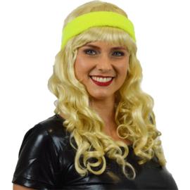 Zweetband haarband neon geel