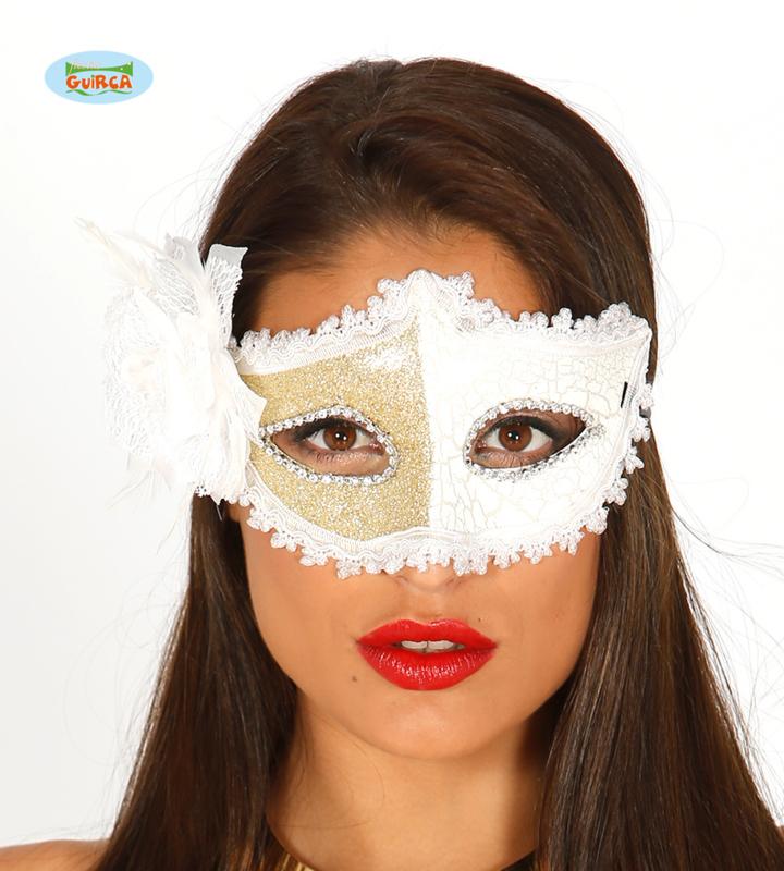 Masker wit-goud