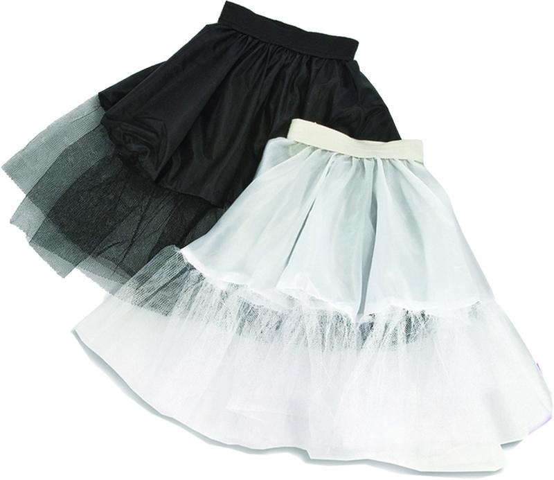 Petticoat zwart kindermaat