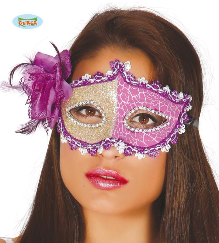 Masker zilver-paars