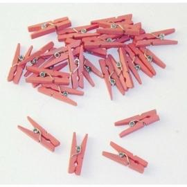 Knijpertjes roze 24st.