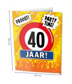 Window Sign - 40 jaar