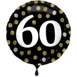 Folieballon Glossy Black 60 Jaar