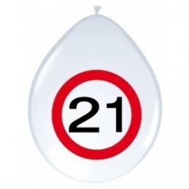 Ballonnen verkeersbord 21