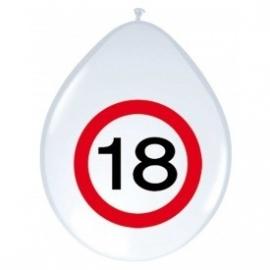 Ballonnen verkeersbord 18