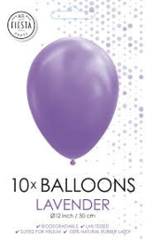 10 Ballonnen Lavendel