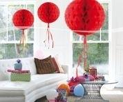 Honeycomb bal rood 30 cm