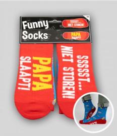 Funny socks - papa slaapt