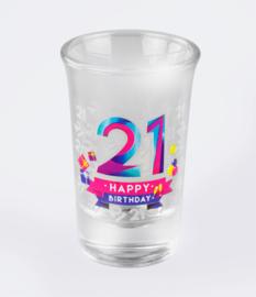 Happy shot glasses - 21 jaar