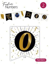 """Festive numbers """"0"""" 3 stuks"""