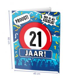 Window Sign - 21 jaar