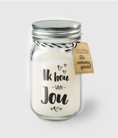 Black & White Candle -  ik hou van jou