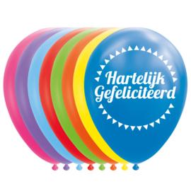 Ballonnen Hartelijk gefeliciteerd