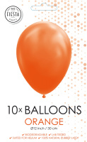 10 Ballonnen Orange