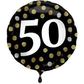 Folieballon Glossy Black 50 Jaar