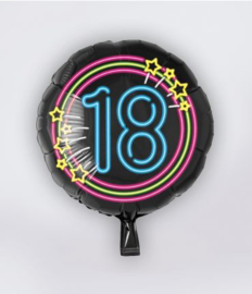 Folieballon neon 18
