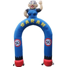 Opblaasbare Sarah cartoon feestboog