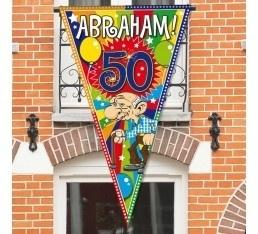Mega puntvlag Abraham