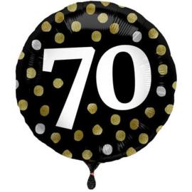 Folieballon Glossy Black 70 Jaar