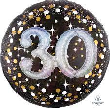 Folieballon 3D Glossy Black 30 Jaar