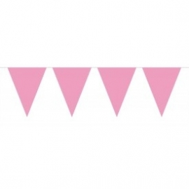 Mini vlaggenlijn roze