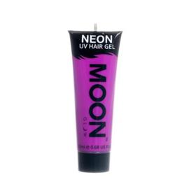 Neon UV hair gel purple