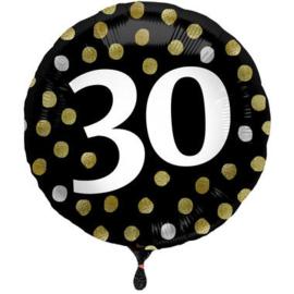 Folieballon Glossy Black 30 Jaar