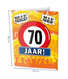 Window Sign - 70 jaar