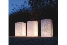 Waxinelichtzakken  Love