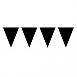 Mini vlaggenlijn zwart