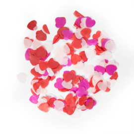 Confetti groot hartjes love mix