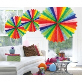 Honeycomb fan multicolor