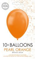 10 Ballonnen Pearl Orange