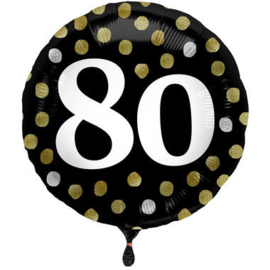 Folieballon Glossy Black 80 Jaar