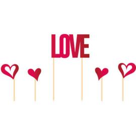Taarttopper love & hartjes