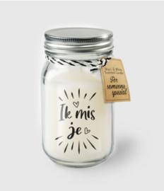 Black & White Candle -  ik mis je