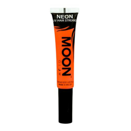 Neon UV hair streaks orange