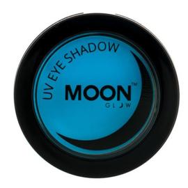 Neon UV eye shadow blue