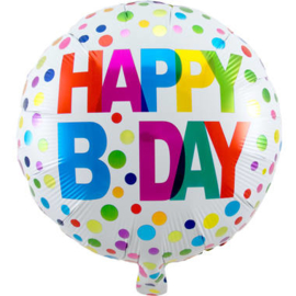 Happy Bday Stippen Folieballon
